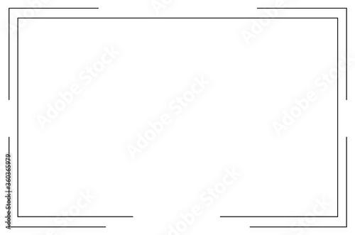 Cuadros en Lienzo Frame Icon isolated vector. Vector Illustration. EPS 10.