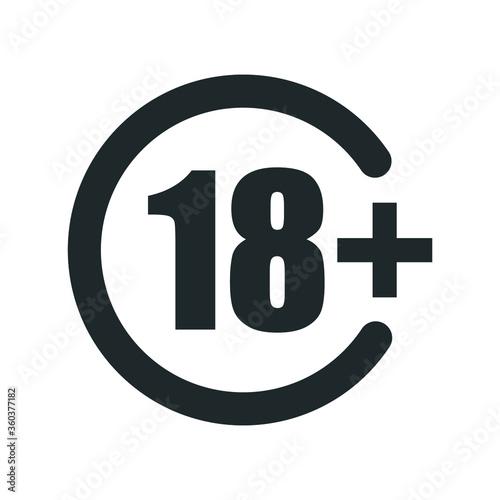 +18 icon , plus 18 icon Tableau sur Toile