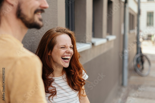 Fotografia, Obraz Young woman laughing in amusement