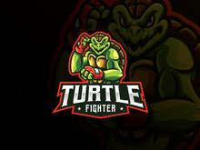 Turtle Mascot Sport Logo Design
