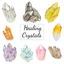Healing Crystals Set With Quar...
