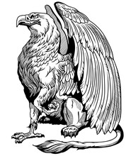 Griffin, Griffon, Or Gryphon. ...
