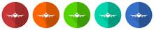 Flight Icon Set, Plane, Aircra...