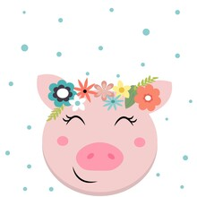 Pig Greeting Card, Baby Shower