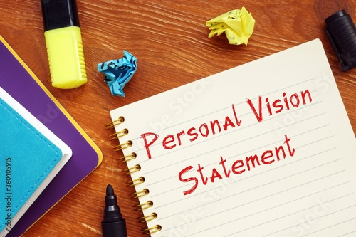 Fotografija Career concept about Personal Vision Statement with sign on the page