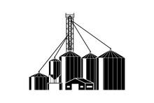 Grain Elevator. Warehouse With...