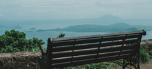 Bench View Of Taal Volcano