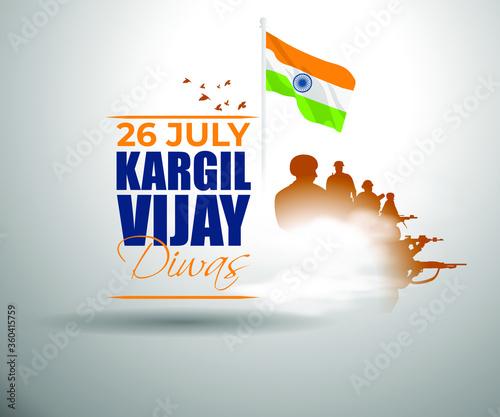 Fotomural VECTOR ILLUSTRATION FOR 26 JULY VIJAY KARGIL DIWAS MEANS 26 JULY KARGIL (INDIAN