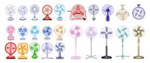 Fan Vector Realistic Set Icon....