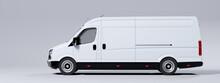 Commercial Van Truck On White ...