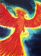 Flying Liver Bird  Painting