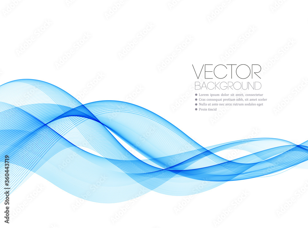 Fototapeta Abstract colorful vector background, color wave for design brochure, website, flyer.