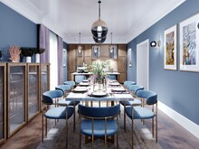 Large Dining And Dining Room T...