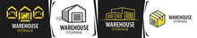Vector Logo Of A Warehouse For Storage