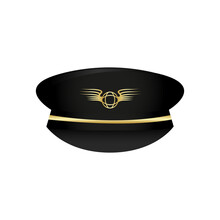 Pilot's Hat Icon. Captain Hat....