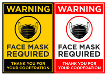 Face Mask Required Sign. Verti...