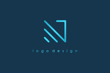Abstract Initial Letter N Logo...