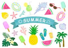 夏のイラストセット