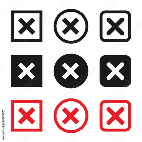 削除ボタンのアイコンセット Canvas Print