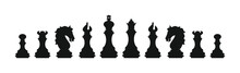 Silhouettes Of Chess Pieces. C...