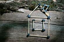 Toy House Made Of Toothpicks O...