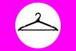 Leinwanddruck Bild - Clothes hanger black icon. illustration