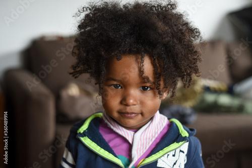 Valokuva Bimba Afro americana Casa sorrisi