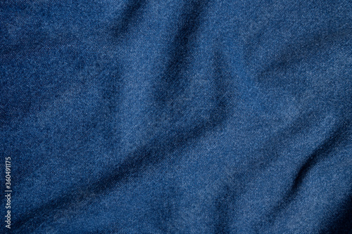 Blue denim texture Canvas Print