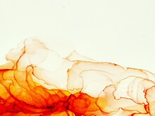 Alcohol Ink Fire Flame. Clouds...