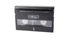 Closeup Detail Of Video Casset...