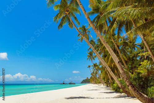 Beautiful landscape of tropical beach on Boracay island, Philippines Slika na platnu