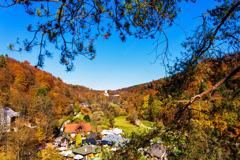 Fototapeta Ojcow national park and town. Ojcow is located just few kilometer from Krakow - the former capital of Poland.