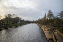 Photo Of Ourse River In The City Of York In UK During Winter.