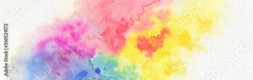 Cuadros en Lienzo Abstract color watercolor cloud and ink blot painted background.