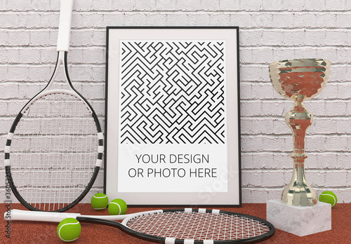 Fototapeta Tennis Sport Poster Mockup obraz