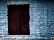Old Wooden Window On Wall