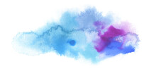 Abstract Color Watercolor Clou...