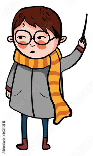 Harry Potter, illustration, vector on white background
