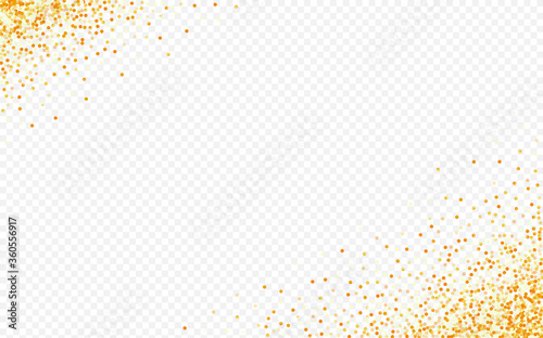 Yellow Rain Glamour Transparent Background. Fototapet