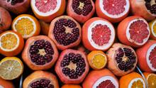 Sliced Citrus Fruits At The Tu...