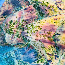 Close-up Abstract Detail Of Colorful Texture On Sea Turtle's Shell