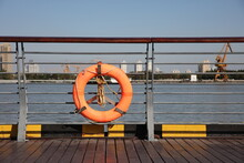 Yellow Lifebuoy On The River R...