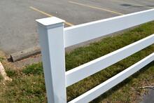 A White Fence Closeup View