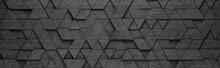 Black Triangles 3D Pattern Bac...