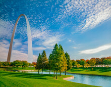 The Gateway Arch Is Surrounded...