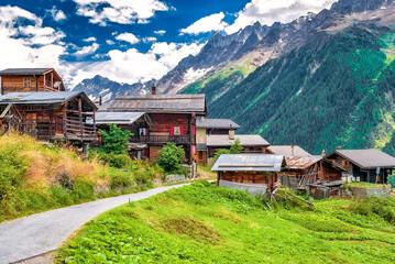 Bergalp Weissenried im Lötschental, Wallis, Schweiz