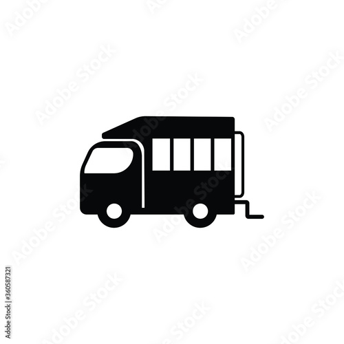 Obraz na plátně Omnibus truck icon vector in trendy flat style isolated on white background