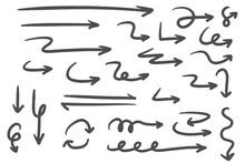 Hand Drawn Arrows Doodle Direc...