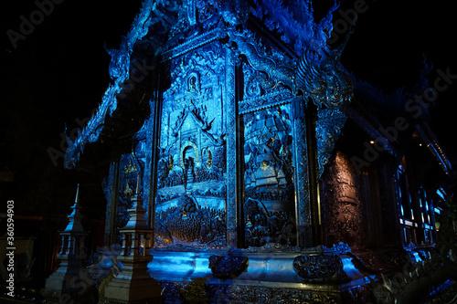 Chiang Mai, Thailand — 1 june 2020:   temple Wat Si Supan, at night,