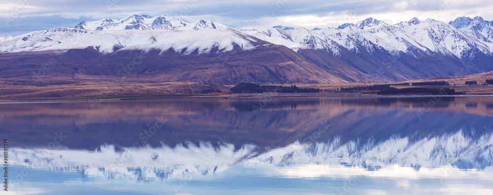 Fototapeta New Zealand lakes